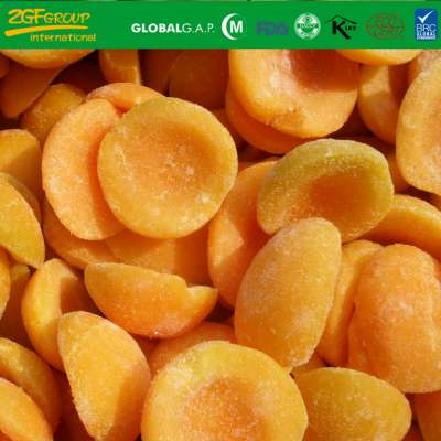 frozen fruits IQF apricot halves skin off