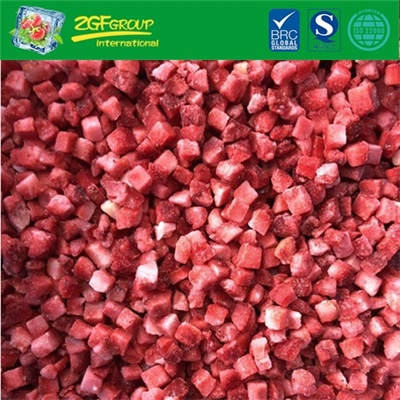 High Quality  IQF Diced Strawberry 6MM