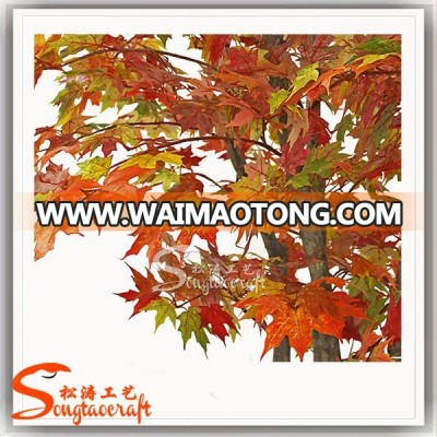 2018 Good-quality artificial Maple Tree red maple for decoration