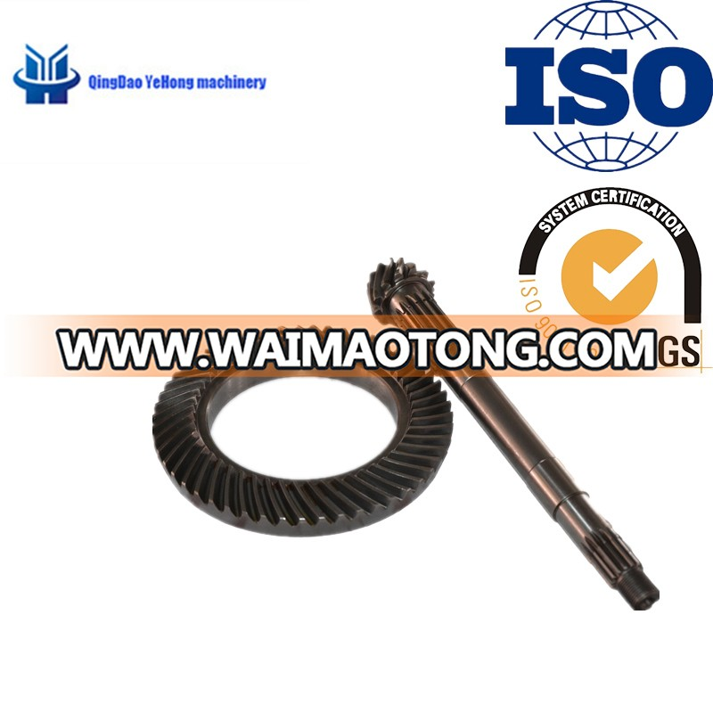 BS6001 Precision Metal Can Be Customized for Tractor Rear Drive Axle Transmission Spiral Bevel Gear