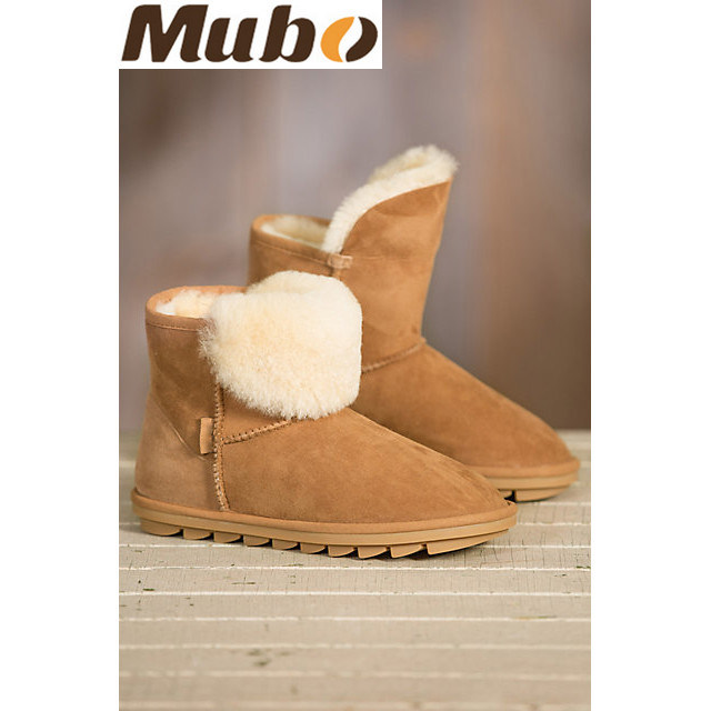 Vogue Sheepskin Snow Boots with Fur Lady Shoes