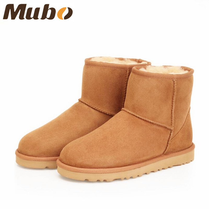 Classic Short Winter Shoes Sheepskin Boots for Men and Women