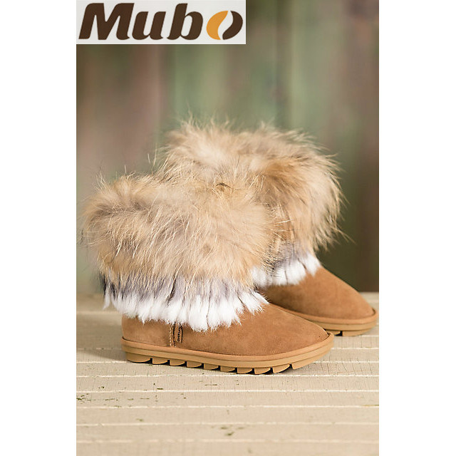 Double Face Sheepskin Women′s Boots for Winter