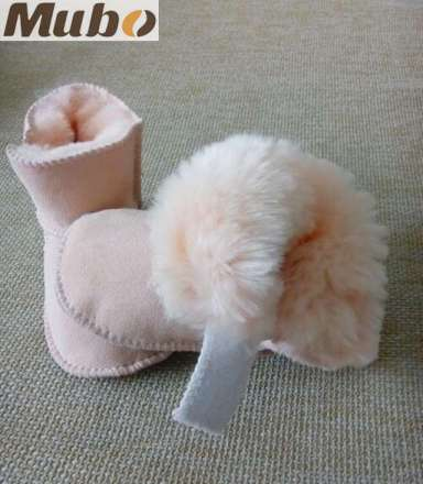 Soft Leather Sole Australia Sheepskin Baby Girl Snow Boots