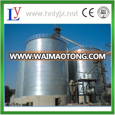 100t,200t,500t,1000t,5000t grain storage silos with flat bottom equipped with sweep auger