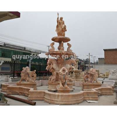 Large Lion and Horse Outdoor Garden Water Fountain