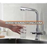 hot saling brass kitchen sink water filter tap with drinking water outlet