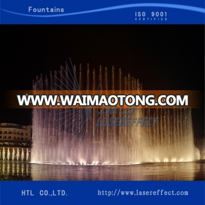 Running music floating water show fountain in lake