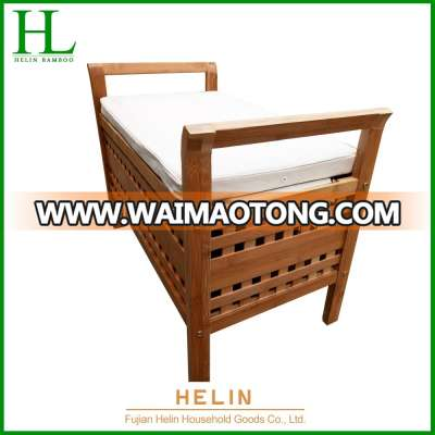 New design frame bamboo chair with mat for living room