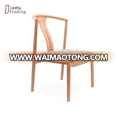 Exquisite bamboo dining chair with the soft surface
