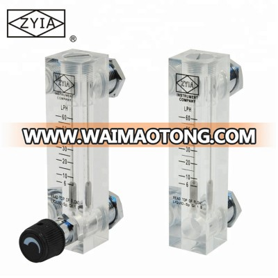 LZM-8T Panel Mounted Acrylic Low Cost  Water Rota meter