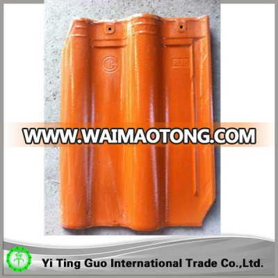 glossy orange ceramic roof tiles / whatsApp:+8615333762678