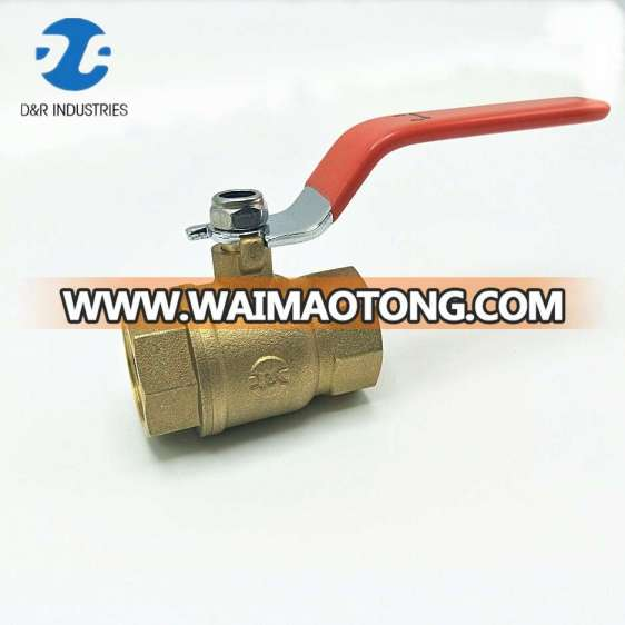 Chinese DR brass forged long handle manual ball valve