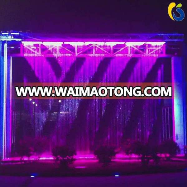 programmable digital graphic water curtain fountain