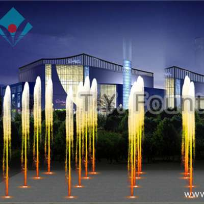 unique indoor water music dancing fountain with colorful led light