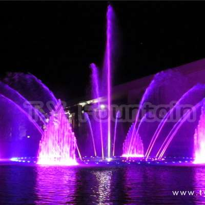 Round Musical Water Fountain Show Design