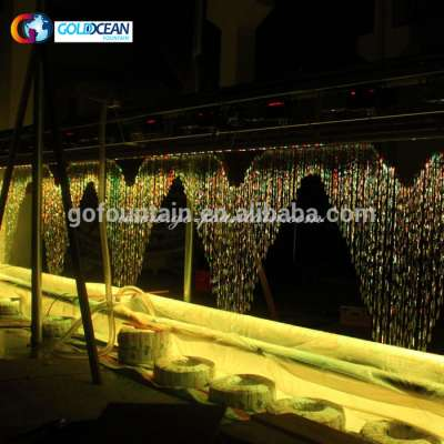 Outdoor Special Design Writing Graphic Water Curtain Fountain