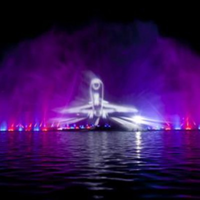Lake Fountain Design Laser Show Water Screen Movie Projection