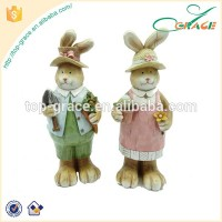 resin easter rabbit figurines collectables decoration