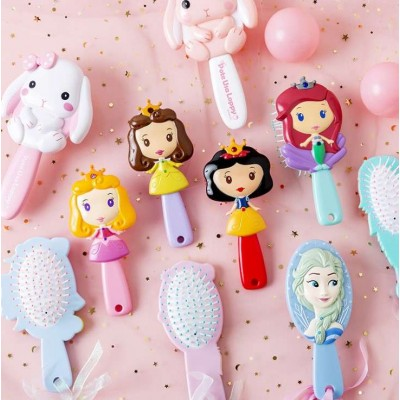 New Products Idea Cartoon Baby Girl Comb Anti-static Baby Hair Brush Massage Hair Comb