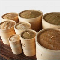 10cm to 30cm bamboo food steamerwholesale Chinese mini bamboo dim sum food steamer basket mini bam
