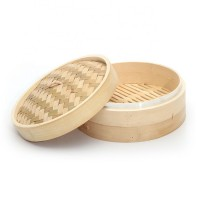 Cheap Wholesale Custom Logo Chinese Commercial Dim Sum Bamboo Food Steamer Basket