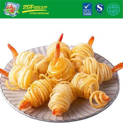 Vietnam Frozen Breaded Potato Shrimp