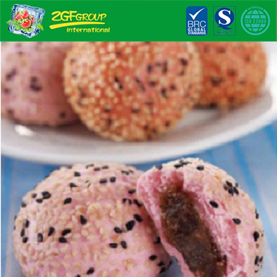 Halal Frozen Food Wholesale Chinese Breakfast Dim Sum Sesame Pau -  Red Bean