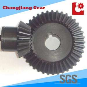 Transmission Straight Teethed Bevel Helical Differential Gear with Keyway