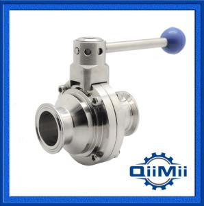 Sanitary Stainless Steel Tri Clamp Butterfly Ball Valve Ss304, Ss316L