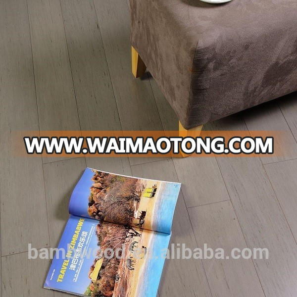 Beautiful hot sale stained logan grey strand woven bamboo flooring