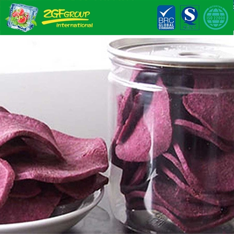 Vacuum dried  purple sweet potato chips