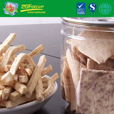 Vacuum dried taro chips & taro sticks