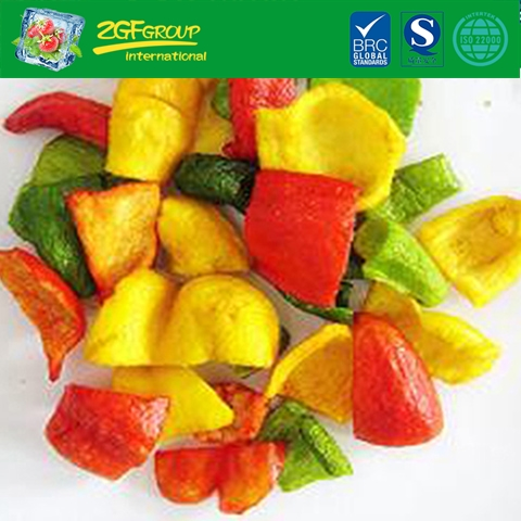 Vacuum dried  colorful sweet peppers