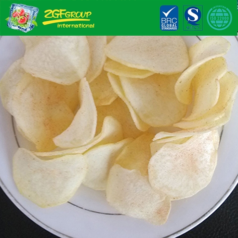 Vacuum dried potato chips