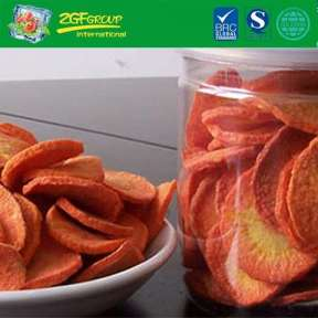 Best Price Healthy Vegetables Snack Vacuum dried  carrot chips