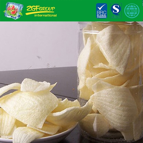 Vacuum dried onion chips