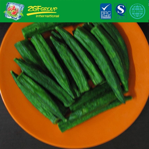 Vacuum dried  whole okra
