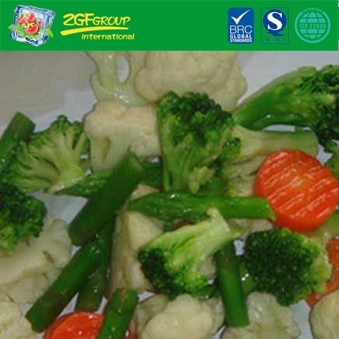 IQF organic mixed vegetables