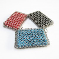 2020 Home Cookware Kitchen Hot Stainless Steel Cast Iron Cleaner Chainmail Scrubber