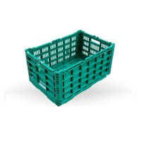 600*400*310 folding basket collapsible plastic fruit and vegetable crate