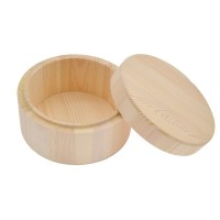 Custom Small Cosmetic Storage Aromatherapy Spice Wooden Cylindrical Box With Lid