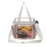 Stadium Approved Tote Bags with Front Pocket Clear Bag With Adjustable Shoulder Strap