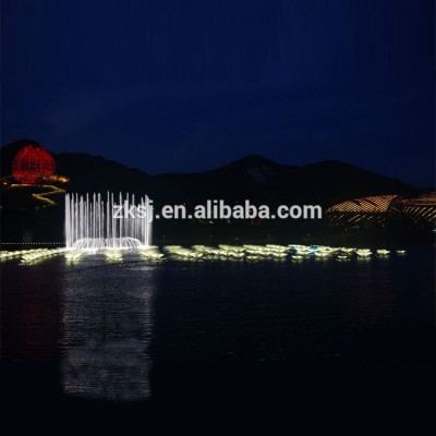 China Qingdao City Large scale led light high jet dancing musical water fountain