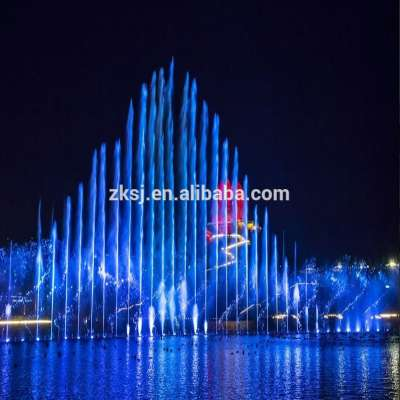 World Horticultural Expo Floating led light music dancing water fountain for performance