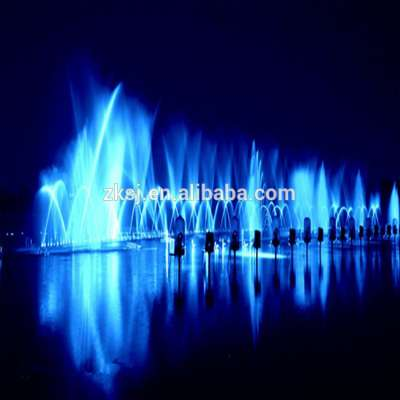 Outdoor LED light dancing music water fountain with water screen projection