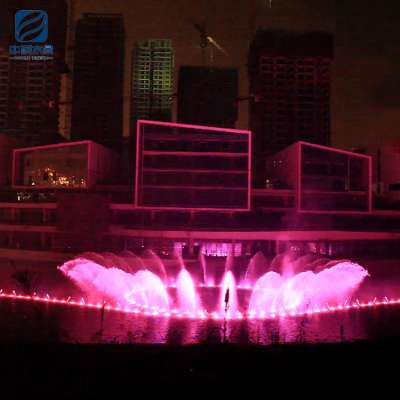 High tech colorful light effect outdoor led music garden fountain