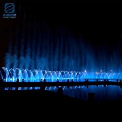 Large led dancing music nozzle fountain