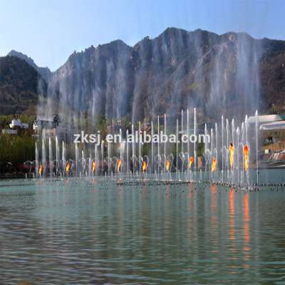 China computer controlled water floating music led laser fountain show projector