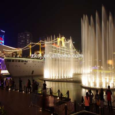Shenzhen landscape Large laser led music dancing fountain water screen